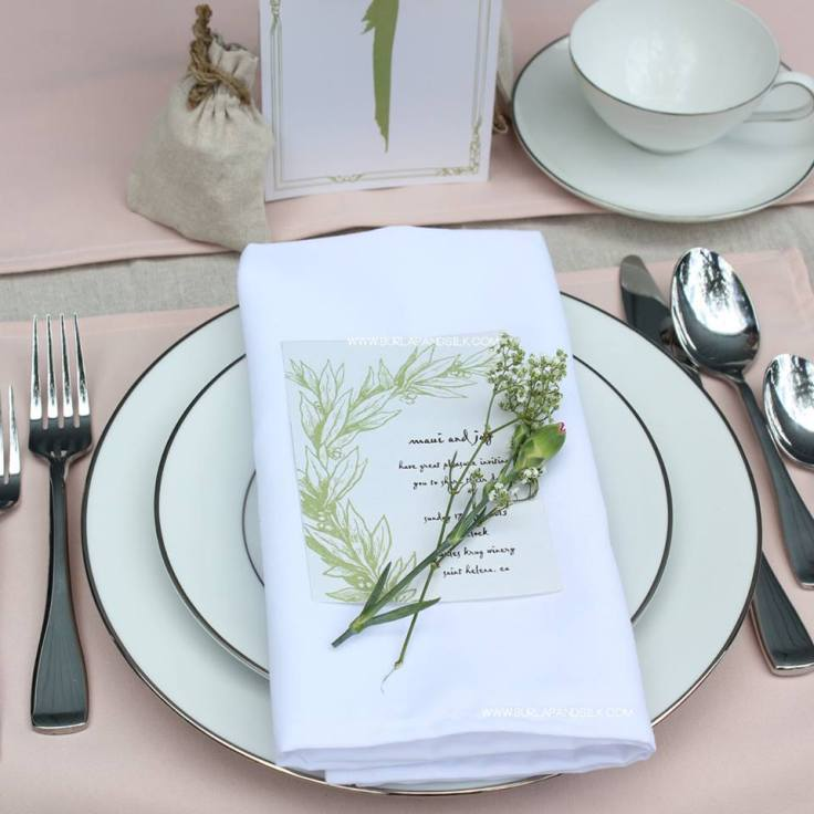 One White Napkin, 4 Napkin-Folding Styles | Burlap and Silk