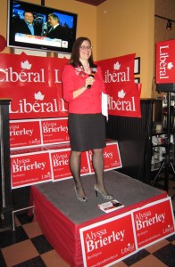 Liberal candidate Alyssa Brierley did a decent job with her 36 day campaign.  She vows to return.