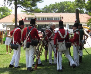 Quite a few War of 1812 re-enactors were at the Joseph Brant day event.  Brant died in 1807 but the re-enactors added colour to the day and reminded us that the second centenary of the War of 1812 is to take place next year.