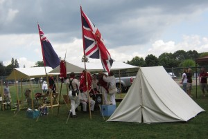 War of 1812 re-enactors set up camp at the LaSalle Pavilion during the Joseph Brant Day event.