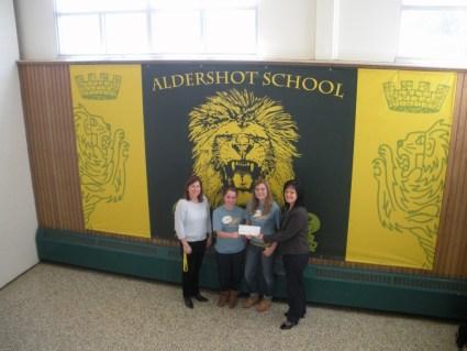BT YA cheque presentation Aldershot
