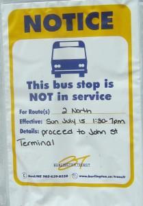 Bus service notice