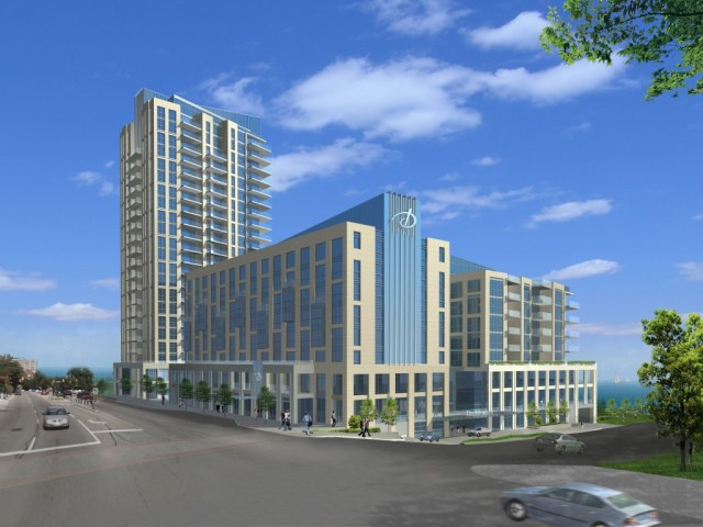 """Three structure project has been the """"in the works"""" since 1985 when developers were given the right to build a 22 storey plus building on the property where the Riviera Waterfront Motel used to exist."""