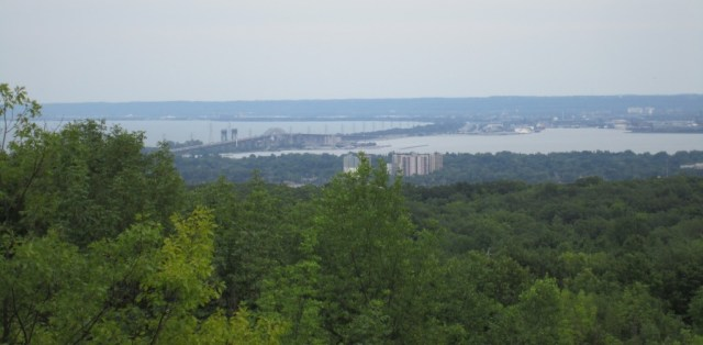 Great view of Burlington Bay and the Skyway bridge from the south end of City View Park.