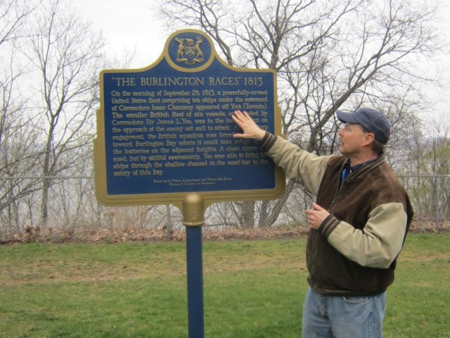 This federal government plaque, erected at Burlington Heights, overlooking Burlington Bay got it wrong and Rick Wilson wanted it changed and the public record corrected.