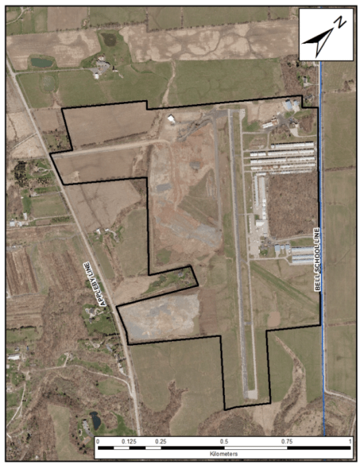 Airpark aerial used by the city
