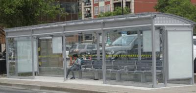 Bus shelter - John Street