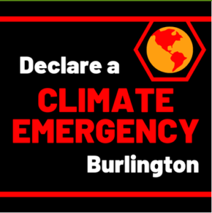 Climate emergency graphic