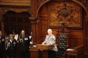 Dowdeswell delivering Throne Speech MAr 16-2018