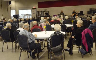 Seniors taking in the music