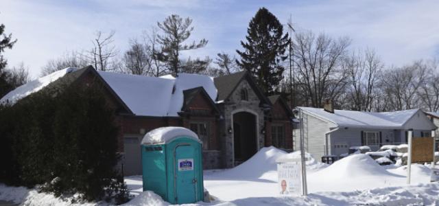 Shore - New house with porta potty