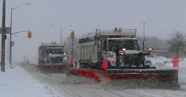 Snow plows - tandem on Fairview