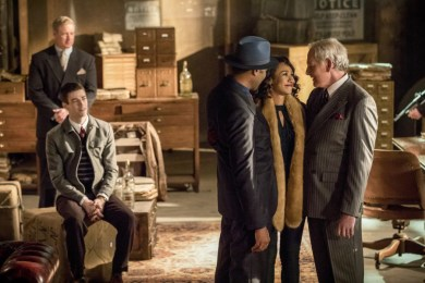 "The Flash -- ""Duet"" -- FLA317c_0297b.jpg -- Pictured (L-R): Grant Gustin as Barry Allen, Jesse L. Martin as Detective Joe West, Candice Patton as Iris West and Victor Garber as Professor Martin Stein -- Photo: Jack Rowand/The CW -- © 2017 The CW Network, LLC. All rights reserved."