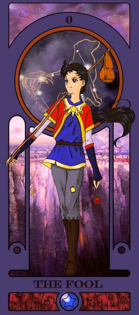 Essa ilustradora americana criou um baralho de tarô inspirado em Sailor Moon 24