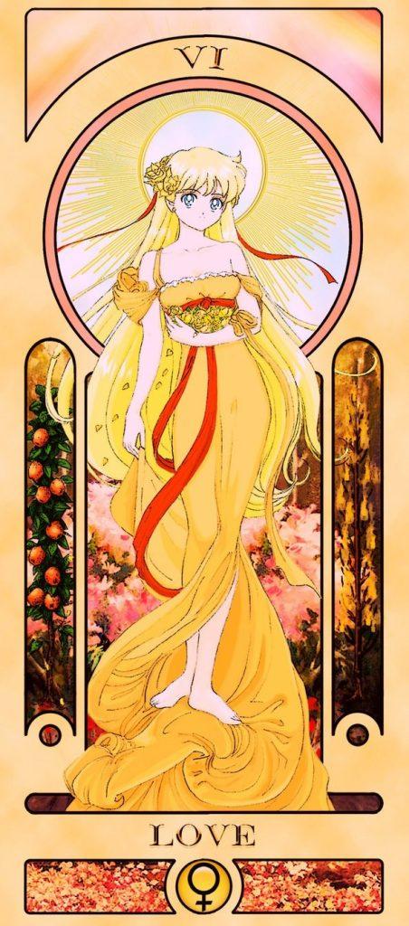 Essa ilustradora americana criou um baralho de tarô inspirado em Sailor Moon 26