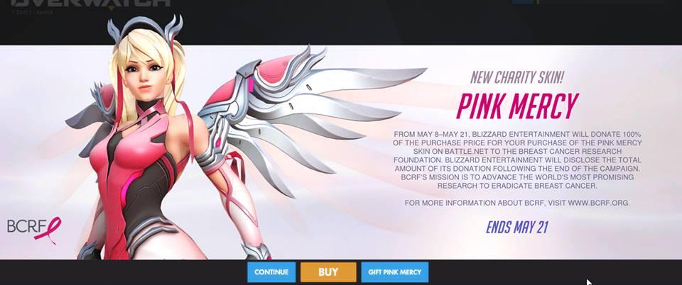 Overwatch lança nova skin da Mercy para apoiar movimento contra o câncer de mama 19