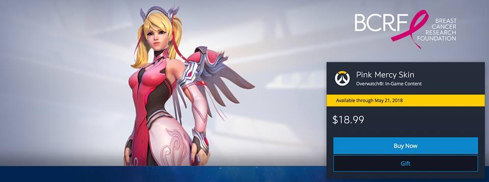 Overwatch lança nova skin da Mercy para apoiar movimento contra o câncer de mama 18