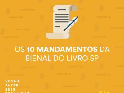 10 Mandamentos da 25ª Bienal Internacional do Livro de São Paulo 16