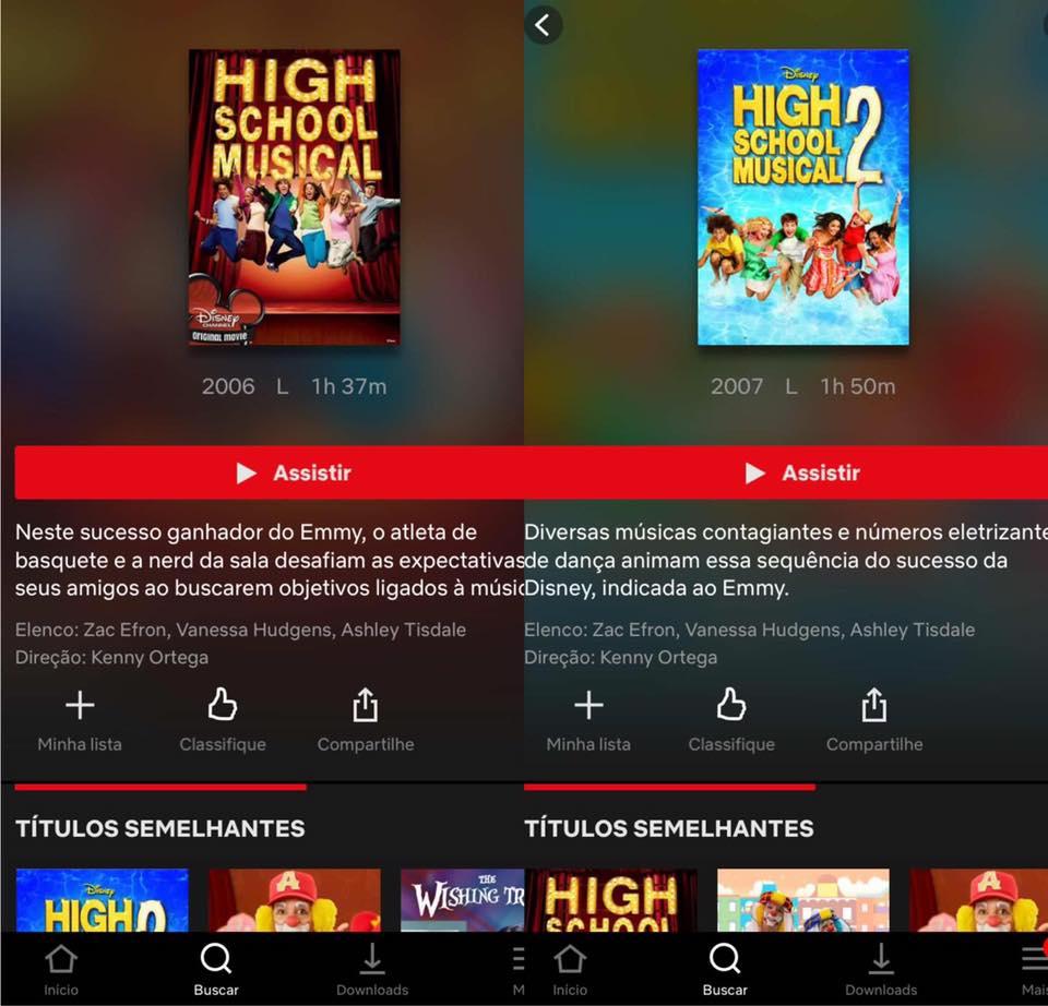 High School Musical 1 e 2 entram no catálogo da Netflix 17