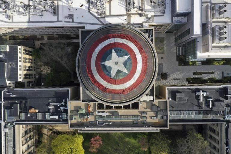 """""""Vingadores"""": Cúpula do MIT se transforma em escudo do Capitão América 16"""
