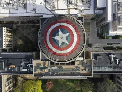 """""""Vingadores"""": Cúpula do MIT se transforma em escudo do Capitão América 28"""