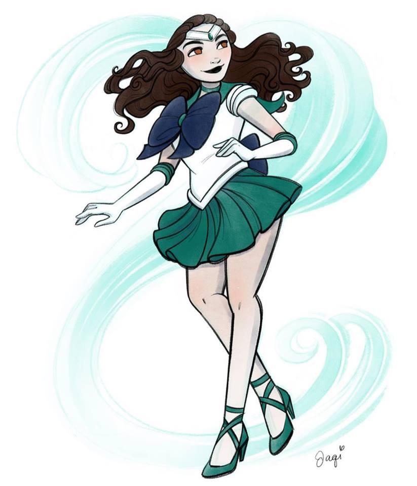 Ilustradora transforma Princesas da Disney em personagens de Sailor Moon! 30