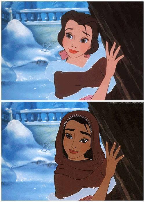 Princesas Disney com diferentes etnias 32