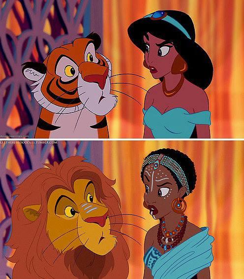 Princesas Disney com diferentes etnias 19