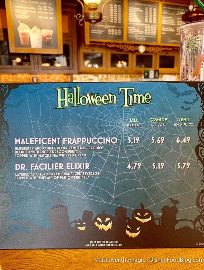 Starbucks lança Frappuccino da Malévola e Elixir do Dr. Facilier na Disneyland 18