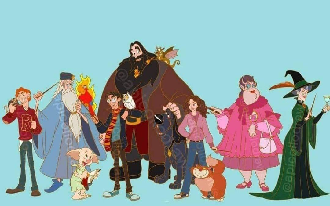 E se os personagens de Harry Potter fossem animações da Disney? 18