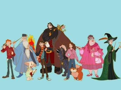 E se os personagens de Harry Potter fossem animações da Disney? 18