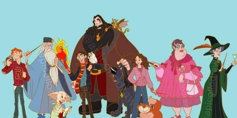 E se os personagens de Harry Potter fossem animações da Disney? 64