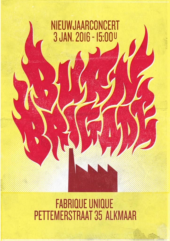 Nieuwjaarsconcert Burnbrigade 2016 poster