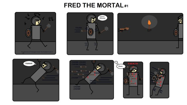 The first (and last) comic of Fred the Mortal. Unfortunate name.
