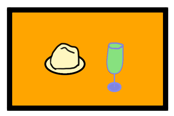 Tommy's boat flag idea -- Marvin's hat and drink.