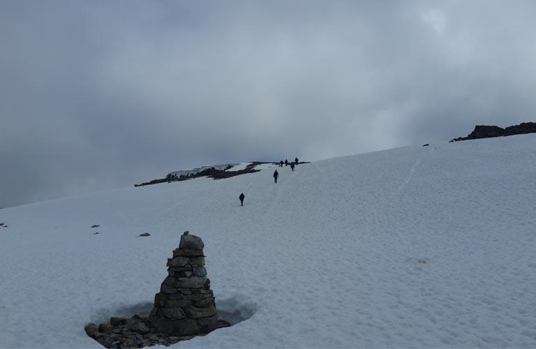Ben Nevis Schottland Schneefeld