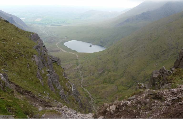 Wandern Irland Carrauntoohil Devil's Ladder