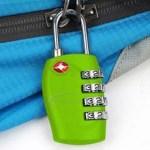 TRIXES 4-stelliges TSA-Vorhängeschloss Zahlenschloss für Koffer Rucksack Gepäck