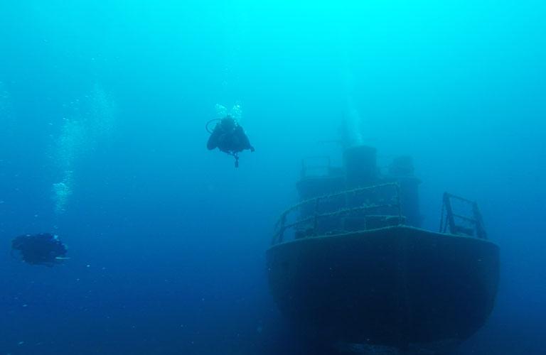 Schiffswrack Tauchen Black Island Bodrum
