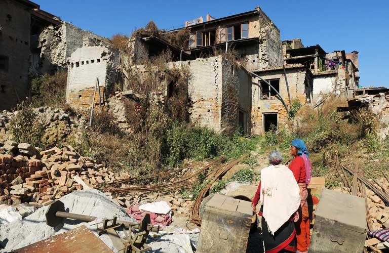 Bhaltapur Erbeben Nepal