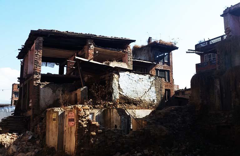 Bhaktapur Ruinen Erdbeben Nepal