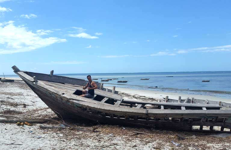 Dau Segelschiff Sansibar Tansania