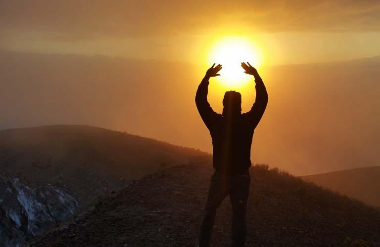 sunrise afrika tansania ol doinyo lengai