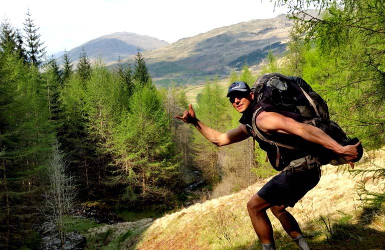 Rucksack packen West Highland Way Schottland Stefan Schüler Autor