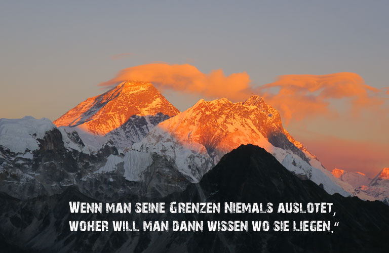 Mount Everest Lohtse Zitate Bergsteigen
