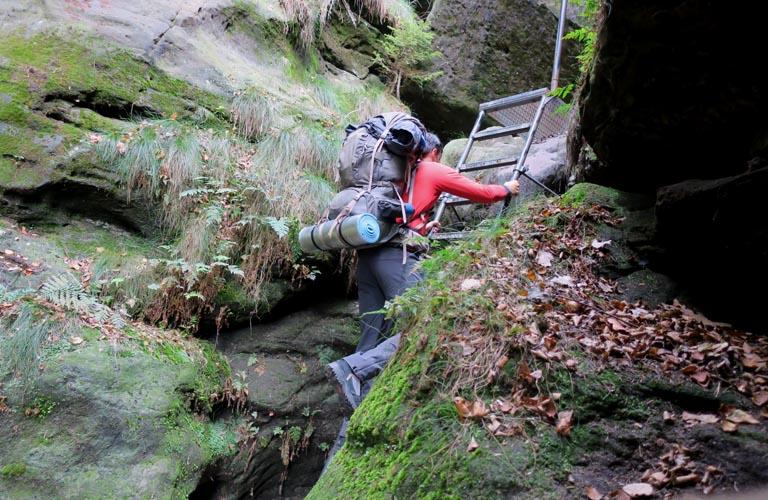 Schrammsteine Malerweg Zelten Sächsische Schweiz Trekking Deutschland