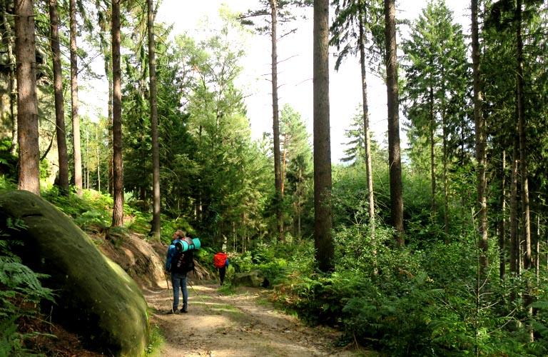 Waitzdorf Malerweg Zelten Sächsische Schweiz Trekking Deutschland