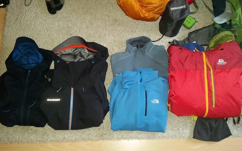 Packliste Mount Everst Base Camp Trekking Nepal Three Passes Trek Island Peak Besteigung Packliste