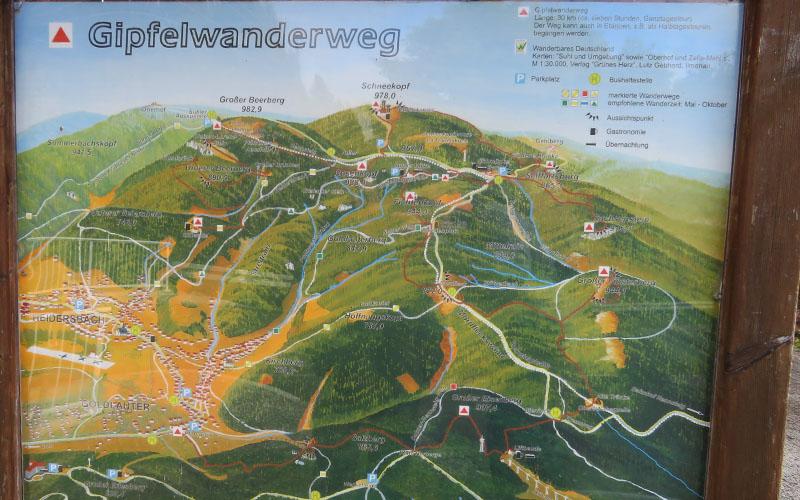 Thüringer Wald Karte.Gipfelwanderweg Im Thüringer Wald Alternative Zum Rennsteig