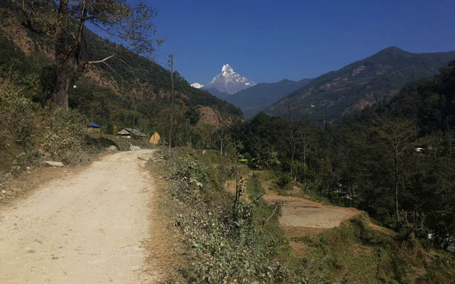 Machapuchare fishtail mountain Annapurna Sanctuary Trek